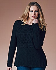 Crochet Trim Jumper