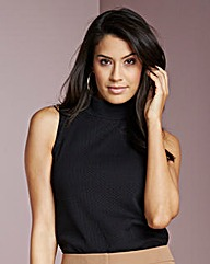 Simply Be High Neck Jersey Top