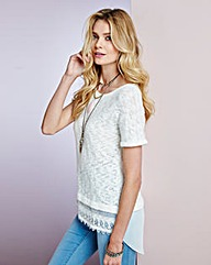Simply Be Lace Trim Top