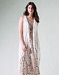 Sleeveless Tassel Cover Up