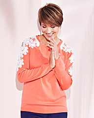 Lace Shoulder Detail Jumper