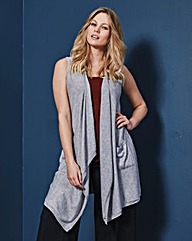 Sleeveless Waterfall Cardigan
