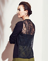 Cardigan With Lace Back