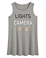 Lights Camera Shine Slogan Vest