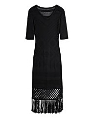 Knitted Fringe Dress
