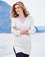 V Neck Cable Tunic