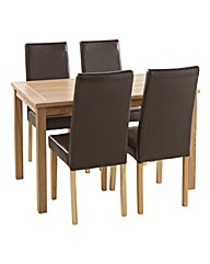 Oakland Dining Table And Four Chairs