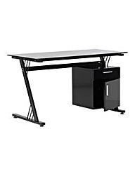 Columbia Glass Computer Desk