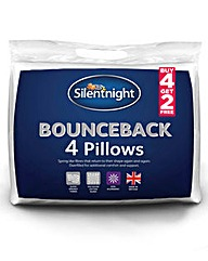Pack of 6 Silentnight BounceBack Pillows