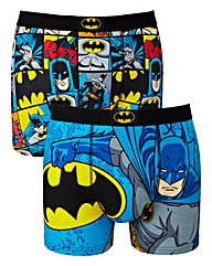 Batman Pack Of 2 Multi Boxers