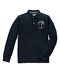 Jacamo Enfield Long Sleeve Polo Long