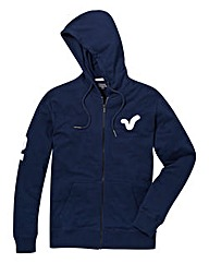 Voi Wyndham Fleece Navy Zip-Thru Hoodie