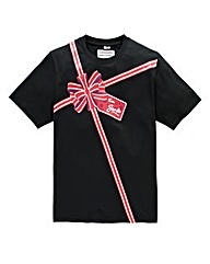Jacamo Xmas Ribbon T-Shirt Long