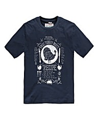 Jacamo Xmas Turkey T-Shirt Long