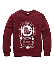 Jacamo Xmas Turkey Crew Neck Sweat Long
