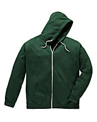 Jacamo Forest Green Full Zip Hoodie Long