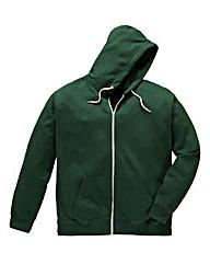 Jacamo Forest Green Full Zip Hoodie Reg
