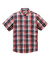 Jacamo Destin S/S Check Shirt Long