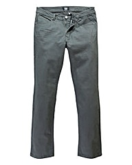 UNION BLUES Charcoal Gaberdine Jean 35in