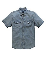 UNION BLUES S/S Bishop Denim Shirt Long