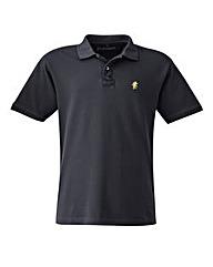 Jacamo Black Embroidered Polo Xtra Long