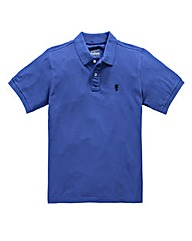 Jacamo Cobalt Embroidered Polo Long