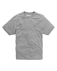 Jacamo Grey Marl Dallas Basic Crew Tee L
