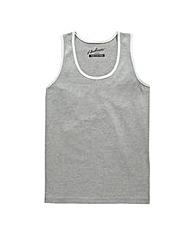Jacamo Grey Marl Callahan Vest Top