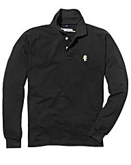 Jacamo Black L/S Griffin Polo Long