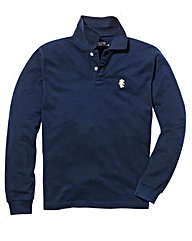 Jacamo Navy L/S Griffin Polo Long