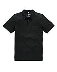 Jacamo Black Austin Jersey Polo Shirt L