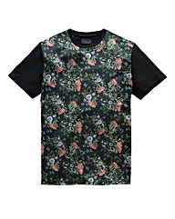 Label J Dark Floral Tee Long
