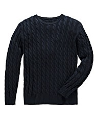 Jacamo Drew Cable Crew Neck Jumper