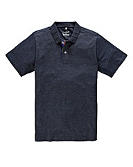 Jacamo Denim Tropics Jersey Polo Long