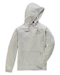 Jacamo Ecru Fleck Hooded Top Long