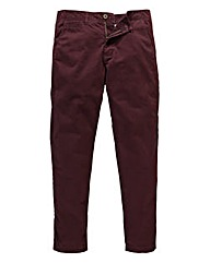 Jacamo Wine Stretch Tapered Chino 33in