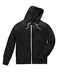 Jacamo Black Full Zip Hoodie Reg