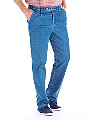 Premier Man Pleat Front Jeans 27in