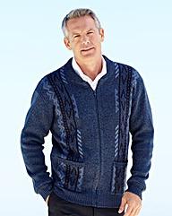 Premier Man Jacquard Zipper Cardigan