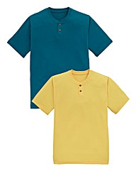 Southbay Pack of 2 Grandad T-Shirts