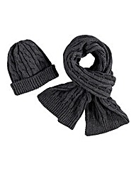 Aran Hat and Scarf Set