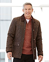 Premier Man Quilted Leather Car Coat