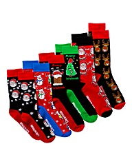 Southbay Pack of 6 Novelty Socks