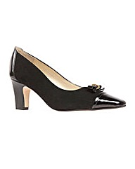 Surlingham Black Patent/Suede Court Shoe
