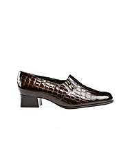 Van Dal Edith Brown Croc Print Shoe