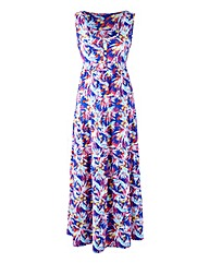 Petite Print Jersey Dress 47in