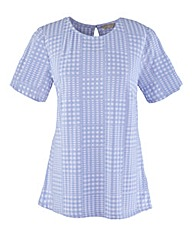 Gingham Jersey Top