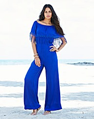 Jumpsuit With Lace Detail To Neckline