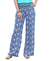 Printed Crinkle Trouser Length 29in