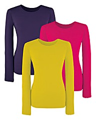 Pack 3 Round Neck Jersey Tops